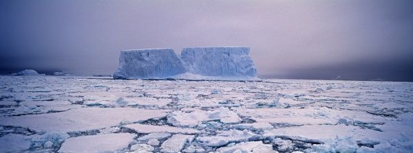 Icebergs and pack ice in the Weddell Sea, Antarctica