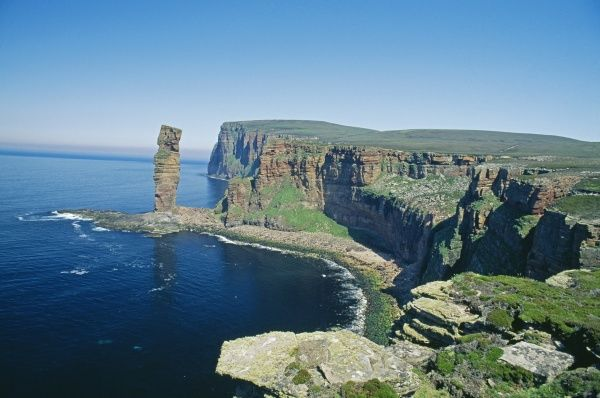 Old Man of Hoy, Hoy, Orkney, Scotland, summer