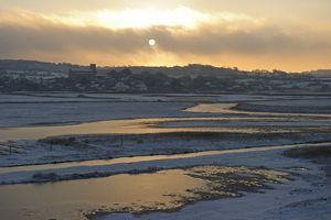 Salthouse Norfolk in snow December